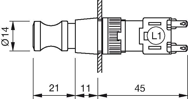 Details about  /Universal Instruments Pushbutton Switch 26095000